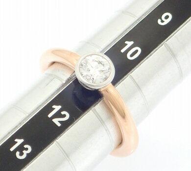 【ジュエリー】TIFFANY&Co.ティファニービゼットバンドリング指輪10.5号#10.5K18PGピンクゴールドPt950プラチナダイヤモンドD0.38ct【中古】【k】【Blumin楽天市場店】