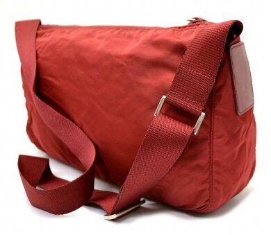 【バッグ】PRADAプラダナイロンショルダーバッグCHERRY赤レッドB10141【中古】【k】【Blumin楽天市場店】