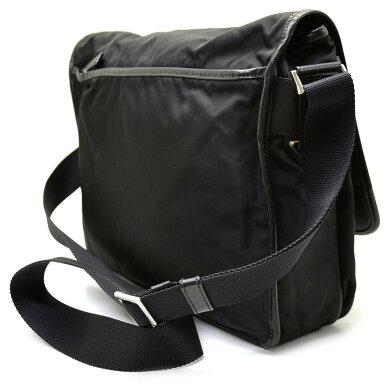 【バッグ】PRADAプラダナイロンショルダーバッグ斜め掛けショルダーNERO黒ブラック【中古】【k】【Blumin楽天市場店】