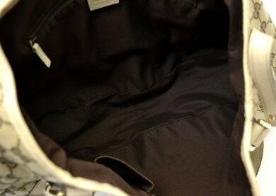 【バッグ】GUCCIグッチGGキャンバスハンドバッグショルダーバッグ肩掛けセミショルダーレザーゴールド金具カーキブラウンベージュ130736493492【中古】【k】【Blumin楽天市場店】