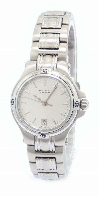 【ウォッチ】GUCCIグッチシルバー文字盤デイトSSレディースQZクォーツ腕時計9040L【中古】【k】【Blumin楽天市場店】
