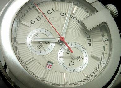 【ウォッチ】GUCCIグッチGクロノクロノグラフデイトホワイト文字盤メンズQZクォーツ腕時計101MYA101339【中古】【k】【Blumin楽天市場店】
