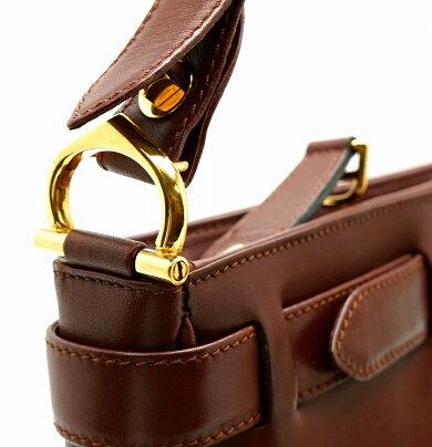 【バッグ】Cartierカルティエマストショルダーバッグワンショルダー斜め掛けショルダーボルドーゴールド金具【中古】【k】【Blumin楽天市場店】