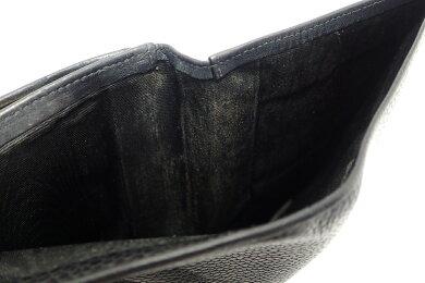【財布】CHANELシャネルキャビアスキンココマークがま口ガマ口2つ折長財布黒ブラックA13498【中古】【k】【Blumin楽天市場店】