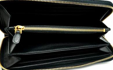【財布】PRADAプラダラウンドファスナー長財布TESSUTOQUILTINナイロンキルティングレザーNERO黒ブラック1ML506【中古】【k】【Blumin楽天市場店】