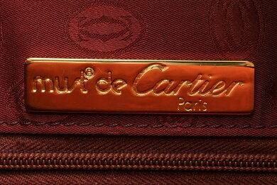 【バッグ】Cartierカルティエマストショルダーバッグワンショルダー斜め掛けショルダーボルドー【中古】【k】【Blumin楽天市場店】