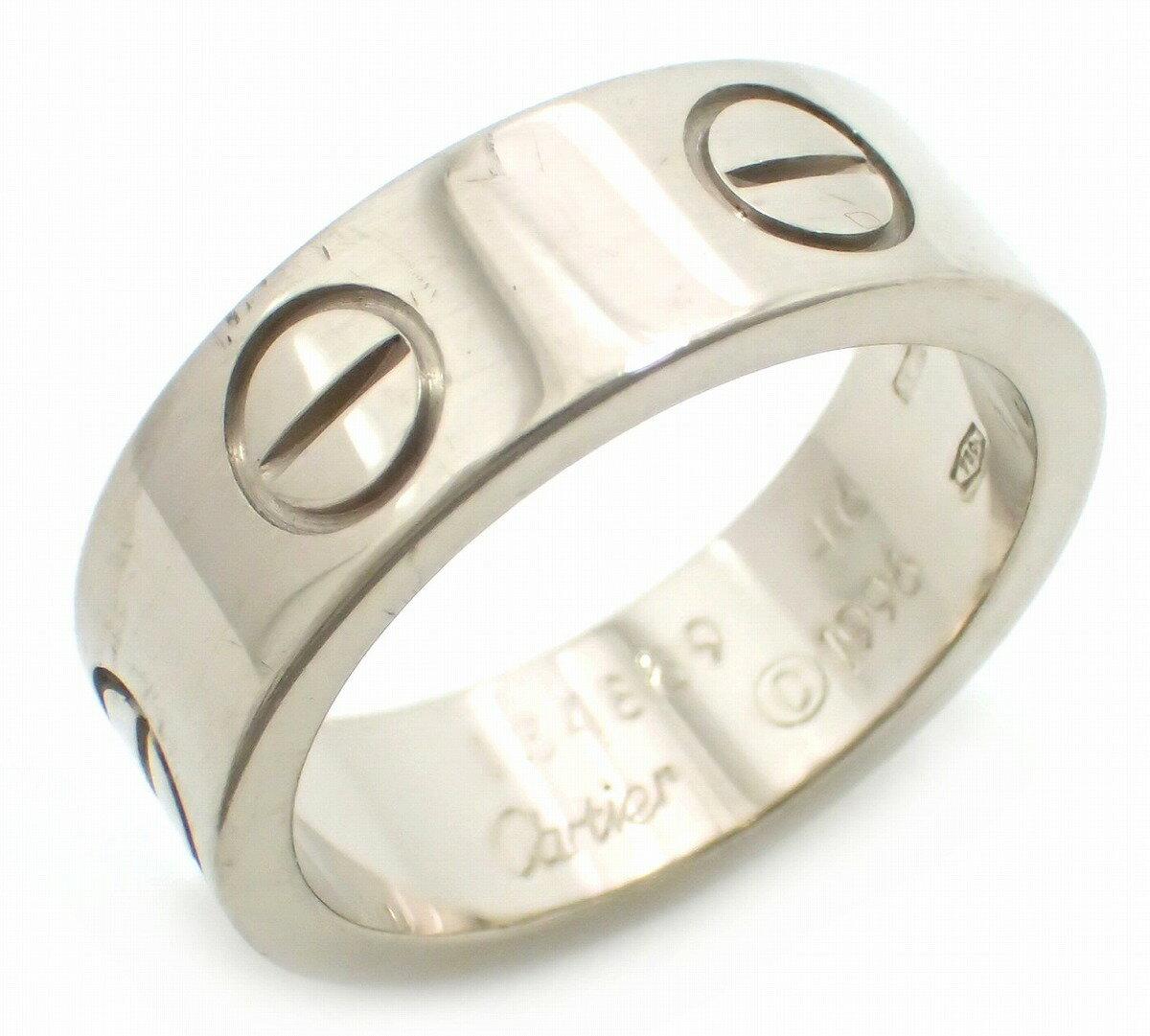 【ジュエリー】Cartier カルティエ ラブリング K18WG 750WG ホワイトゴールド リング 指輪 #46 6号 B4084700 B4084746 【中古】【u】【Blumin 楽天市場店】