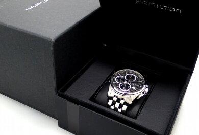 【ウォッチ】HAMILTONハミルトンジャズマスタークロノグラフデイトブラック文字盤SSシースルーバックメンズATオートマ腕時計H32596131【中古】【k】【Blumin楽天市場店】