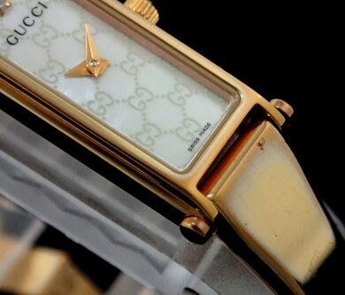 【ウォッチ】GUCCIグッチ1Pダイヤホワイトシェル文字盤ピンクゴールドメッキPGPレディースQZクォーツ腕時計1500LYA015560【中古】【k】【Blumin楽天市場店】