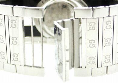 【ウォッチ】GUCCIグッチトワールコレクションラージワイドバングルSSブラッククリアレディースクォーツ腕時計ブラック文字盤112JYA112414【中古】【k】【Blumin楽天市場店】