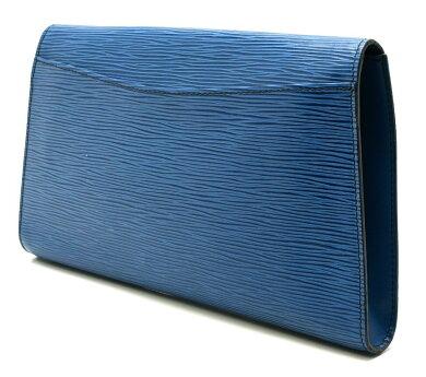 【バッグ】LOUISVUITTONルイヴィトンエピアールデコセカンドバッグクラッチバッグレザートレドブルー青M52635【中古】【k】【Blumin楽天市場店】
