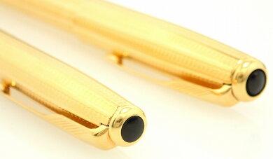 PARKERパーカーソネット万年筆ボールペンセットペン先K18750ツイスト式ボールペンゴールドカラー【中古】【k】【Blumin楽天市場店】