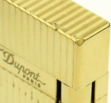 S.T.Dupontデュポンライン2モンパルナスヴァ-ティカルラインガスライターライターゴールドゴールドラベル16827【中古】【k】【Blumin楽天市場店】