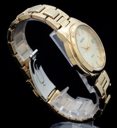 【未使用品】【ウォッチ】SEIKOセイコーデイトゴールド文字盤100MGPゴールドメッキメンズQZクォーツ腕時計7N42-0F00【中古】【k】【Blumin楽天市場店】