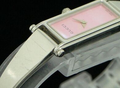【ウォッチ】GUCCIグッチピンクシェル文字盤SサイズSSレディースQZクォーツ腕時計1500LYA015509【中古】【k】【Blumin楽天市場店】