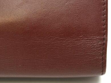 【バッグ】Cartierカルティエマストライントラベルケースオーガナイザー手帳カバーシステム手帳クラッチバッグセカンドバッグレザーカーフボルドー【中古】【k】【Blumin楽天市場店】
