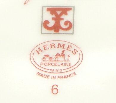 【新品未使用品】HERMESエルメスガダルキヴィール皿プレートセット2枚ホワイトレッド白赤【k】【Blumin楽天市場店】