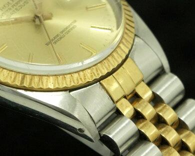 【ウォッチ】ROLEXロレックスデイトジャストゴールド文字盤デイトSS/YG9番メンズ腕時計16013【中古】【u】【Blumin楽天市場店】