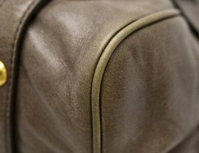 【バッグ】MiuMiuミュウミュウレザーリボンモチーフハンドバッグ2WAYショルダーバッグ斜め掛けグレー系色【中古】【k】【Blumin楽天市場店】