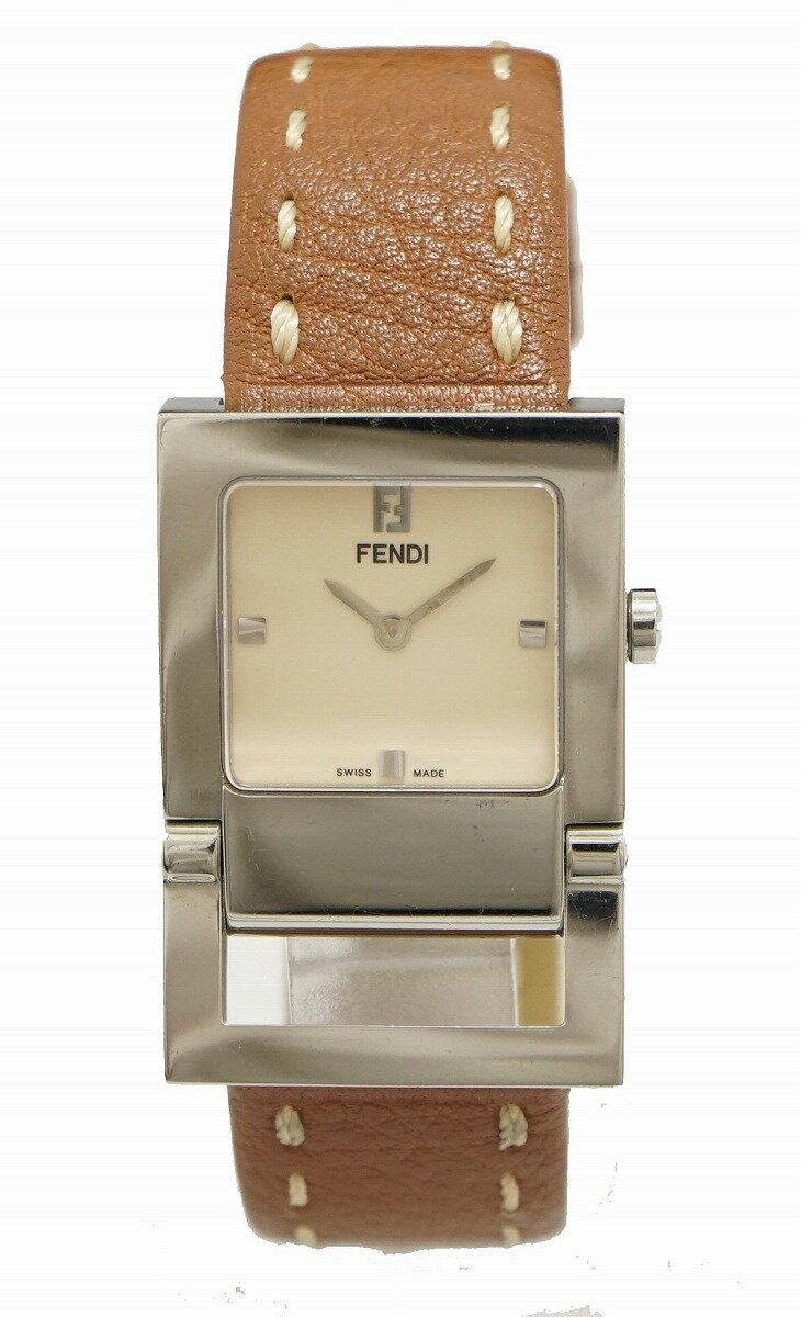 【ウォッチ】FENDI フェンディ クリーム文字盤 SS 革ベルト メンズ QZ クォーツ 腕時計 002-52200G-059 【中古】【u】【Blumin 楽天市場店】