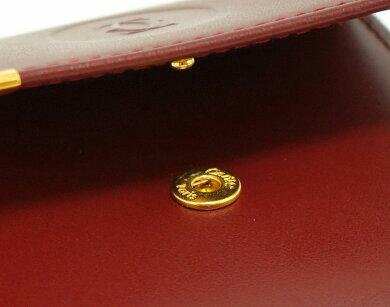 【新品未使用品】【財布】Cartierカルティエマストラインマストドゥカルティエスクエアコインパースコインケース小銭入れレザーカーフボルドーL3000464【k】【Blumin楽天市場店】