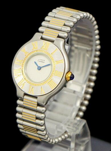 【ウォッチ】Cartierカルティエマスト21マストヴァンティアンSSGPレディースQZクォーツ腕時計【中古】【k】【Blumin楽天市場店】