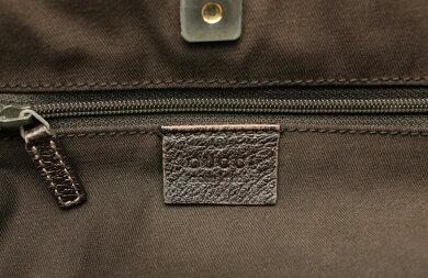 【バッグ】GUCCIグッチGGキャンバスハンドバッグトートバッグ肩掛けレザー茶ブラウンベージュ146247212792【中古】【k】