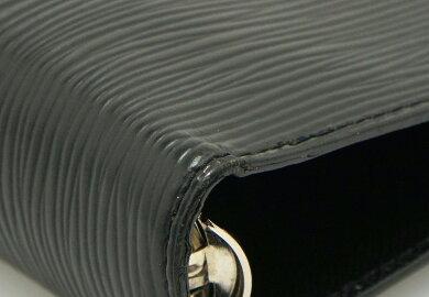 LOUISVUITTONルイヴィトンエピアジェンダGM手帳カバー6穴式システム手帳レザーノワール黒ブラックシルバー金具R20212【中古】【k】