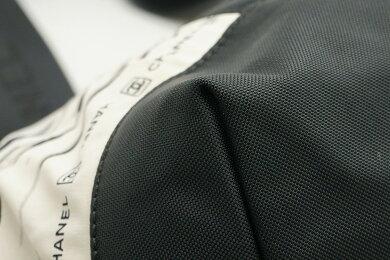 【バッグ】CHANELシャネルスポーツラインハイサマーハンドバッグトートバッグナイロンコットン白ホワイトグレー黒ブラック【中古】【k】