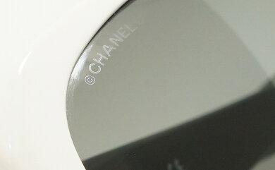 CHANELシャネルアイコンサングラススモークココマークブラック黒ホワイト白55□151355123【中古】【k】