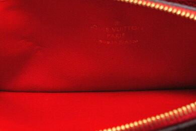 【財布】LOUISVUITTONルイヴィトンモノグラムアンプラントポルトフォイユクレマンスラウンドファスナー長財布レザースリーズ赤レッドM60169【中古】【k】