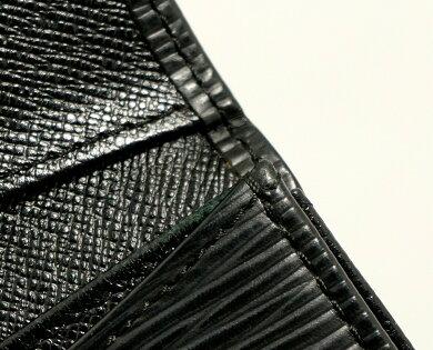 【財布】LOUISVUITTONルイヴィトンエピポルトモネサーンプルコインケースコインパース小銭入れノワール黒ブラックM63412【中古】【k】