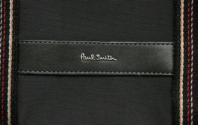 【バッグ】PaulSmithポールスミスナイロントートバッグハンドバッグナイロン黒ブラック【中古】【k】