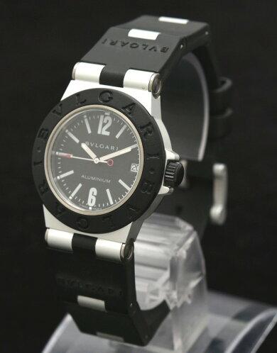 【ウォッチ】BVLGARIブルガリアルミニウム32MMデイトブラック文字盤ユニセックスQZクォーツ腕時計AL32TA【中古】【k】