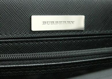 【バッグ】BURBERRYバーバリーレザーハンドバッグトートチェックキャンバスレザーベージュ黒ブラック【中古】【k】
