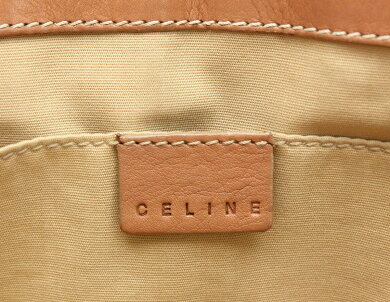 【バッグ】CELINEセリーヌブギーバッグハンドバッグレザーブラウンゴールド金具CE10/10【中古】【k】