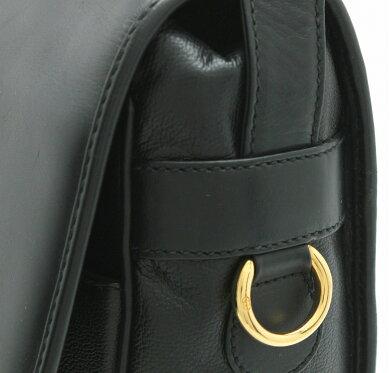 【バッグ】GUCCIグッチメッセンジャーバッグショルダーバッグレザー黒ブラックメンズ001231899【中古】【k】