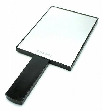 CHANELシャネルハンドミラー手鏡ノベルティ非売品黒ブラック【中古】【k】