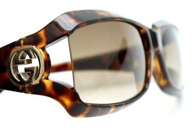 GUCCIグッチサングラスインターロッチンググレーグラデーションダークブラウンブラウン茶ゴールド金具GG2599【中古】【k】