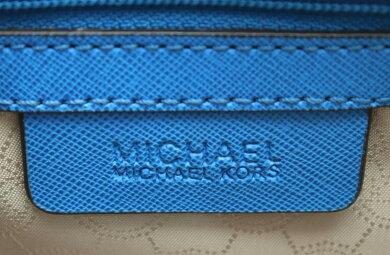 【バッグ】MICHAELKORSマイケルコースマイケルコースハンドバッグ2WAYショルダーバッグ斜め掛けレザーブルー青30S3GLMS2L【中古】【k】