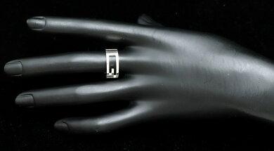 【ジュエリー】【新品仕上げ済】GUCCIグッチブランテッドリング指輪GロゴシルバーSV925#1414号【中古】【k】