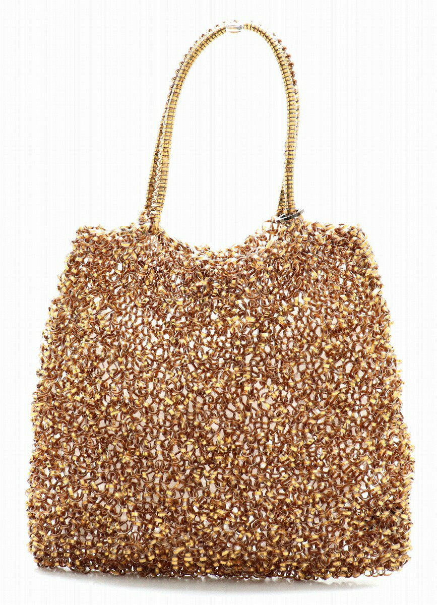【バッグ】ANTEPRIMA アンテプリマ ワイヤーバッグ スタンダードワイヤー ハンドバッグ ゴールド 【中古】【u】