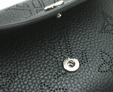【未使用品】【財布】LOUISVUITTONルイヴィトンモノグラムマヒナポルトモネアナエレザーカーフノワール黒ブラックシルバー金具M64049【中古】【k】