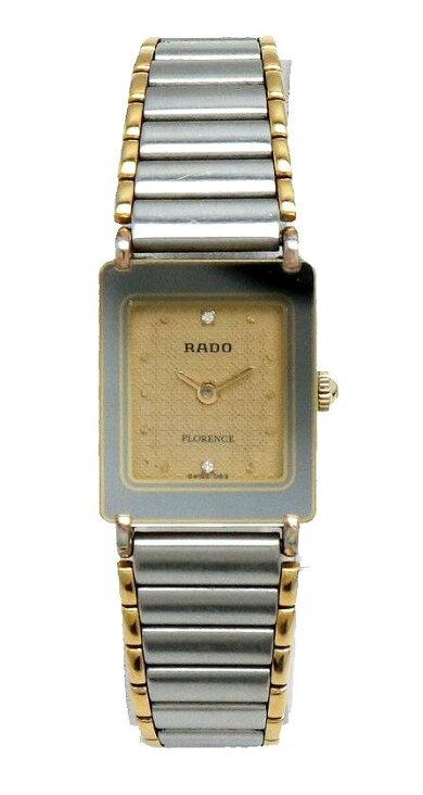 【ウォッチ】RADOラドーフローレンスゴールド文字盤SSGPレディースゴールドメッキQZクォーツ腕時計204.3631.2【中古】【k】