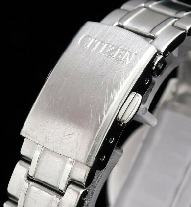 【ウォッチ】CITIZENシチズンエコドライブソーラーシルバー文字盤ピンクゴールドメッキSSコンビネーションボーイズ腕時計S053854【中古】【k】