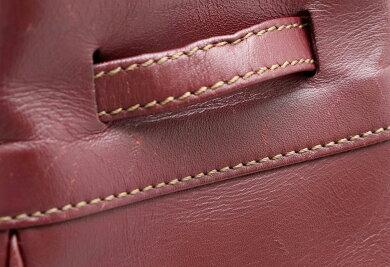 【バッグ】Cartierカルティエマストラインショルダーバッグショルダーバッグ肩掛け巾着レザーボルドー【中古】【k】