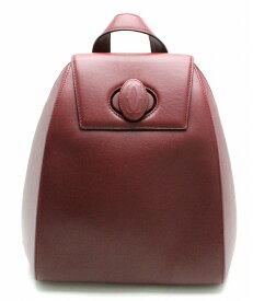 【バッグ】Cartier カルティエ マストライン リュックサック バックパック リュック レザー ボルドー 【中古】【s】