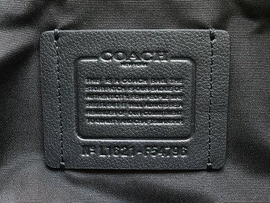 【バッグ】COACHコーチレザーショルダーバッグショルダー斜め掛けブラック黒ネイビー紺F54796【中古】【k】