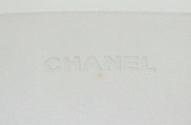 【バッグ】CHANELシャネルラバーロゴトートバッグショルダーバッグショルダートートライトグレー【中古】【k】