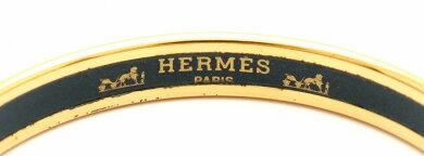 【ジュエリー】HERMESエルメスエマイユPMバングルブレスレット七宝焼ベルトモチーフゴールド色マルチカラー【中古】【k】